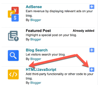 Blogger Html Javascript