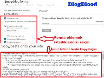Mailchimp Embedded Formu