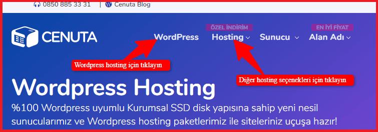 WordPress Blog Açma-Cenuta Hosting