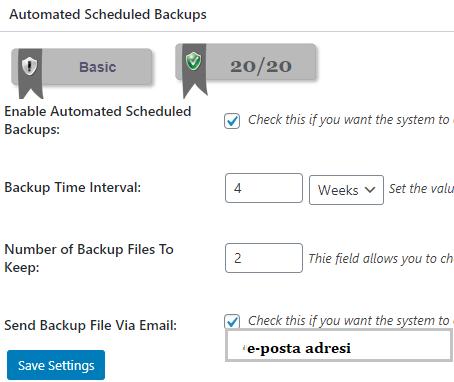 database ayarlari