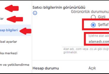 Adsense satıcı bilgilerinin görünürlüğü/seller.json dosyası ekleme