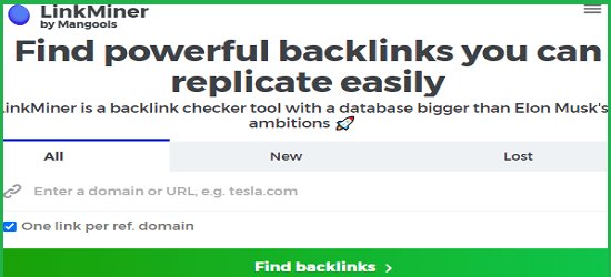 Linkminer backlink sorgu aracı
