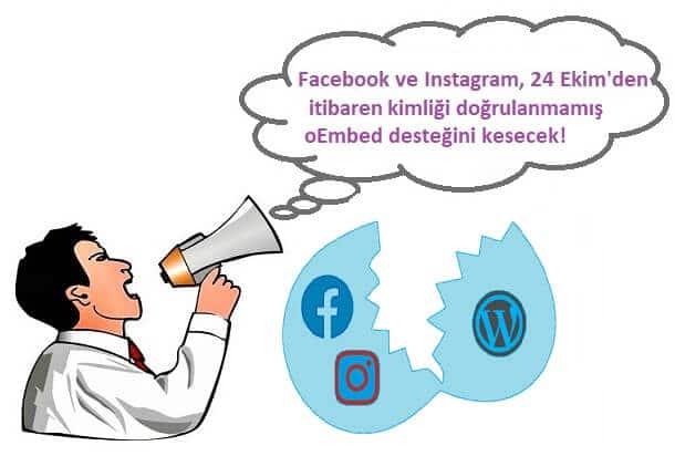 Facebook ve Instagram oEmbed Sorunu ve Çözümü