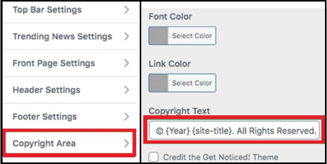 Tema Özelleştirme Bölümünü Kullanarak Powered by WordPress Yazısını Kaldırma