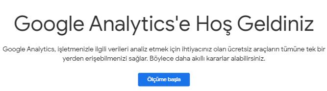 Google Analytics Kayıt
