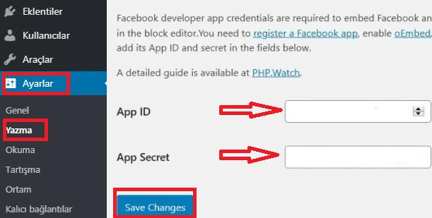 oEmbed Plus Eklentisi API Anahtarı Ekleme