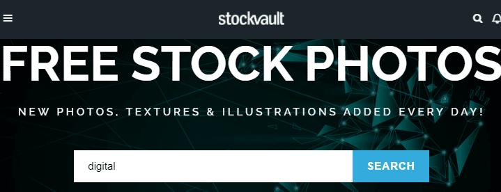 11. StockVault/Bedava fotoğraf sitesi