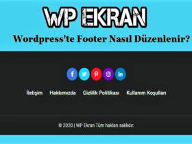 Wordpress Footer Düzenleme
