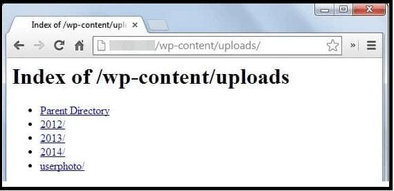 Wp Güvenliği için Dizin listelemeyi devre dışı bırakın