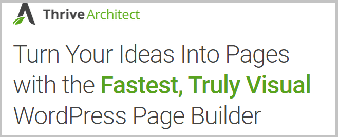 Thrive Architect Page Builder