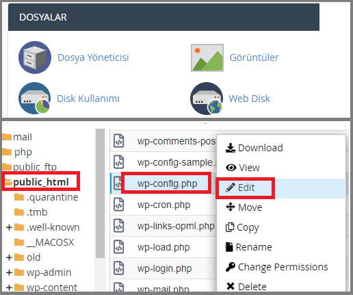 Wordpress php limit artırma-cPanel