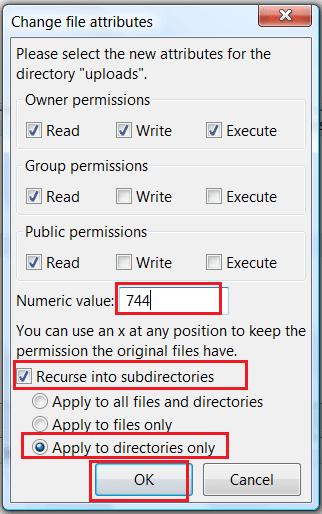 Wordpress resim yükleme hatası çözümü-3