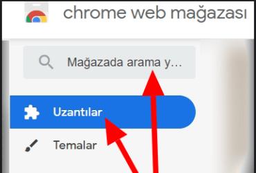 Google Chrome WEB Mağazası