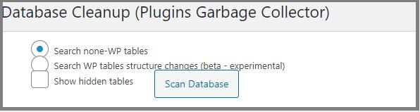 Veritabanı Temizleme Eklentisi- Plugins Garbage Collector