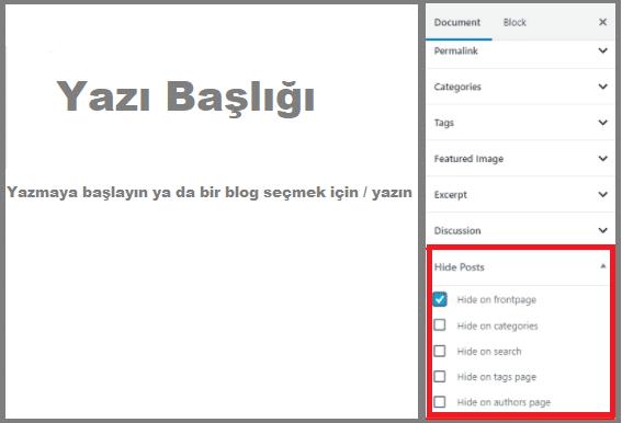 WordPress Gönderileri Ana Sayfadan Gizleme Eklentisi