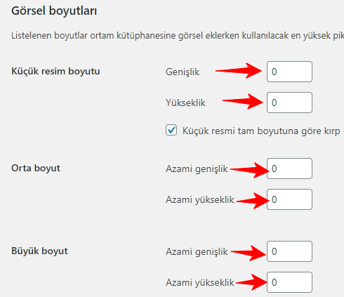 wordpress ortam ayarlari