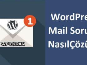 WordPress Mail Gönderme Sorunu Çözümü/SMTP Eklenti Ayarları