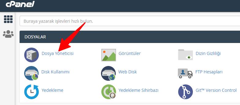 cPanel Dosya Yöneticisi/ WordPress Veritabanı Adı Bulma