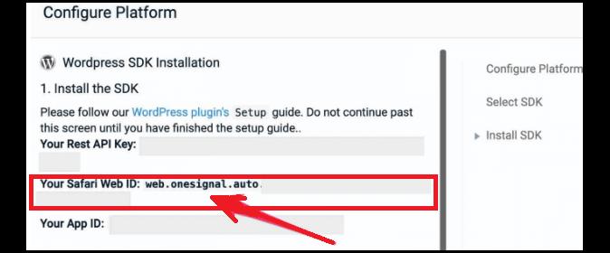 OneSignal'i Safari kullanıcıları için yapılandırma-3