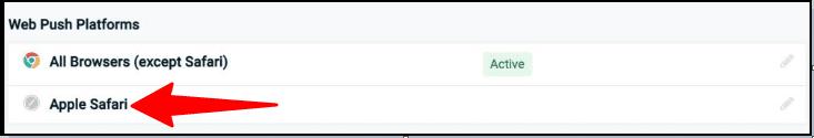 OneSignal'i Safari kullanıcıları için yapılandırma