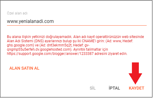 Blogger Domain Yönlendirme İşlemi