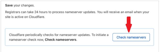 CloudFlare Check Nameserver