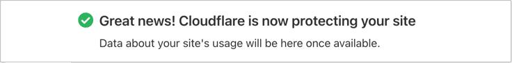 CloudFlare Kurulum Tamamlandı Mesajı