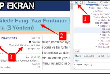 Bir Web Sitede Kullanılan Yazı Fontunu Bulma